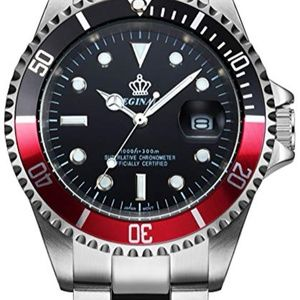 Rotatable Bezel Luminous Stainless Steel Watch
